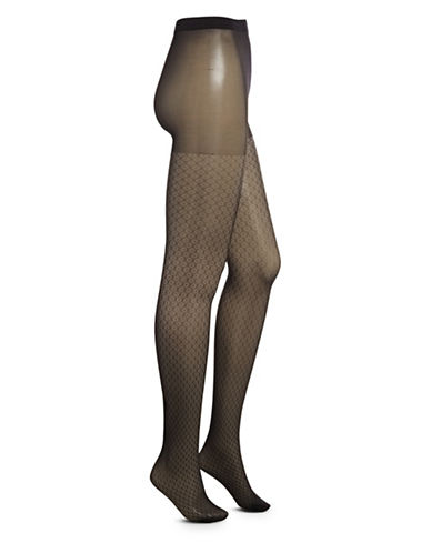 Dim Sheer Dotted Tights-BLACK-1/2