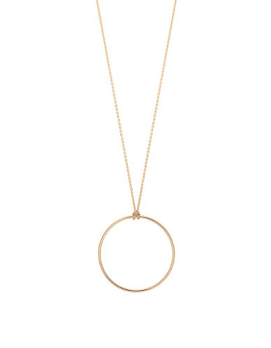 Ginette Ny Baby Circle on Chain Necklace-ROSE GOLD-One Size