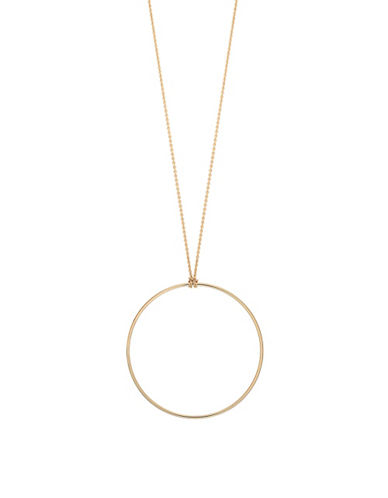 Ginette Ny 18K Rose Gold Circle on a Chain-ROSE GOLD-One Size