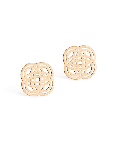 Ginette Ny 18K Rose Gold Purity Stud Earrings-ROSE GOLD-One Size