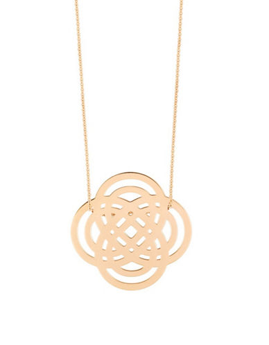 Ginette Ny 18K Rose Gold Purity Necklace-ROSE GOLD-One Size