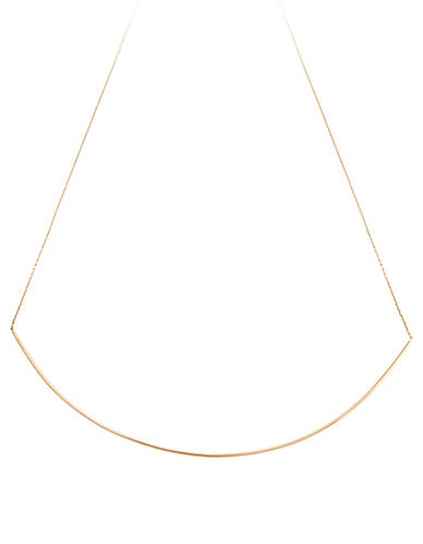 Ginette Ny 18K Rose Gold Bar Arc Necklace-ROSE GOLD-One Size