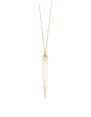 Ginette Ny 18K Rose Gold Long Arrow Necklace-ROSE GOLD-One Size