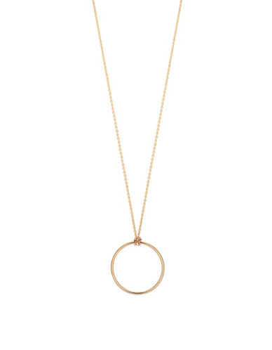 Ginette Ny Mini Circle on Chain Necklace-ROSE GOLD-One Size