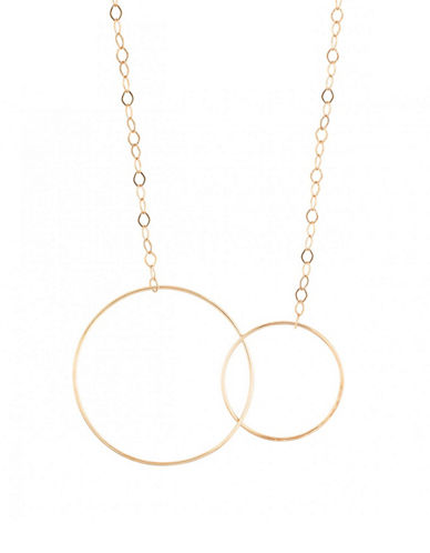 Ginette Ny 18K Rose Gold Linked Loops Necklace-ROSE GOLD-One Size
