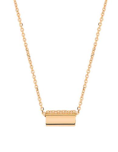 Ginette Ny Straw 18K Rose Gold Pendant Necklace-ROSE GOLD-One Size