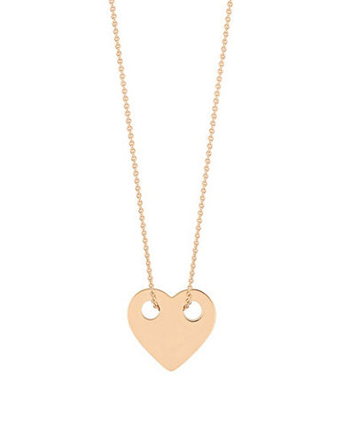 Ginette Ny 18K Rose Gold Heart on a Chain-ROSE GOLD-One Size