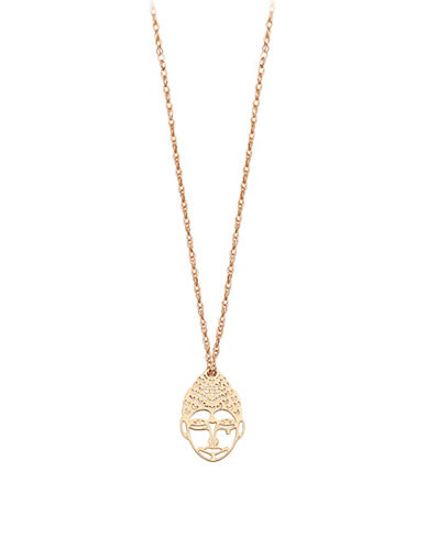 Ginette Ny Mini Buddha 18K Rose Gold Necklace-ROSE GOLD-One Size