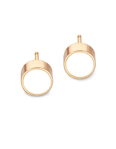 Ginette Ny 18K Rose Gold Pearl Cabochon Stud Earrings-PEARL-One Size