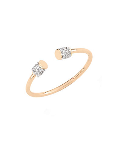 Ginette Ny 18K Rose Gold Choker Ring with 0.112ct Total Carat Weight Diamond-ROSE GOLD-7