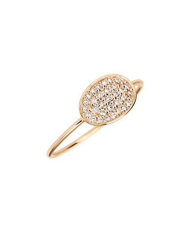 Ginette Ny Mini Sequin 18K Rose Gold and 0.155 Total Carat Weight Diamond Ring-ROSE GOLD-6