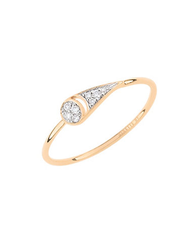 Ginette Ny Mrs. Joe 18K Rose Gold and 0.35 Total Carat Weight Diamond Ring-ROSE GOLD-6