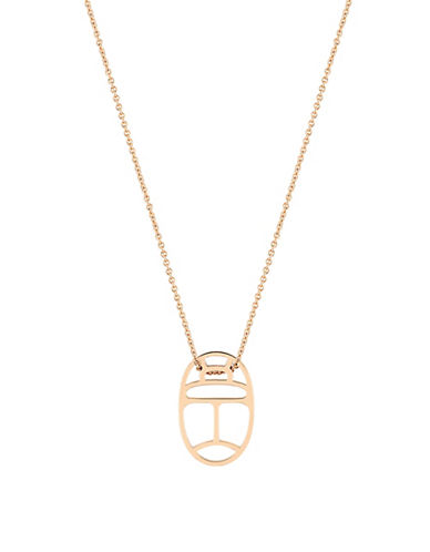 Ginette Ny 18K Rose Gold Wish Necklace-ROSE GOLD-One Size
