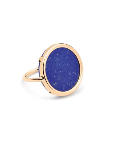 Ginette Ny Ever Lapis 18K Rose Gold Disc Ring-LAPIS-7