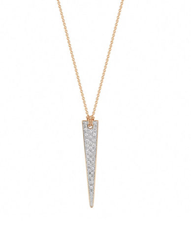Ginette Ny Arc and Arrow 18K Rose Gold Mini Arrow Necklace wth 0.11 TCW Diamonds-DIAMOND-One Size