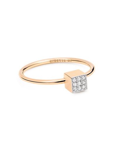 Ginette Ny Ever Diamond 18K Rose Gold Ring with 0.05 TCW Diamonds-DIAMOND-6