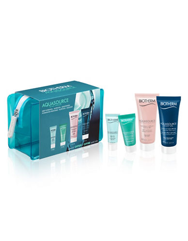 Biotherm Four-Piece Aquasource Dry Skin Day and Night Kit-NO COLOUR-One Size