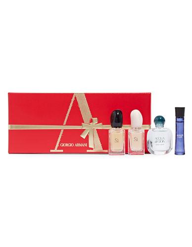 Giorgio Armani Four-Piece Miniature Perfume Gift Set-NO COLOUR-One Size