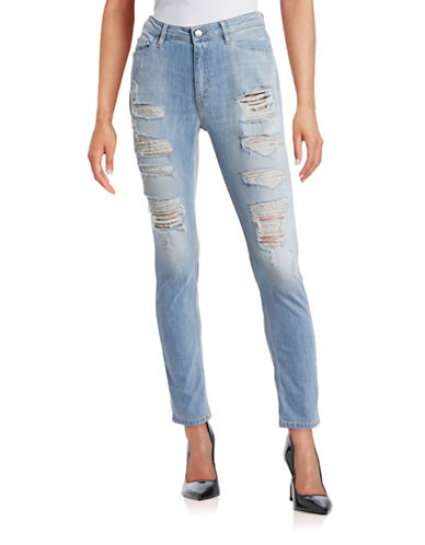 Iro Distressed Stretch Jeans-BLUE-28