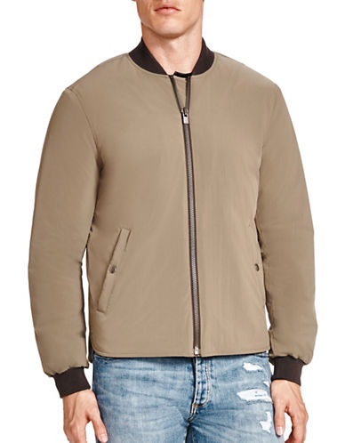 The Kooples Classic Stand Collar Bomber-BEIGE-X-Small