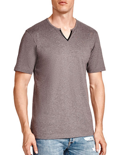 The Kooples Gazed Cotton Tee-GREY-Large