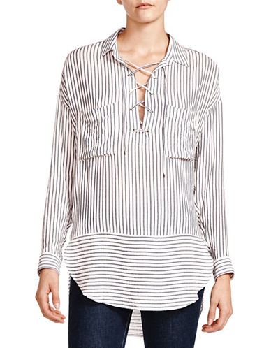The Kooples Cord Stripes Collared Shirt-MULTI-Small
