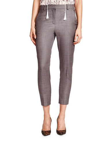 The Kooples Suit Cropped Trousers-GREY-36