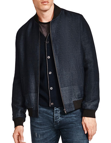 The Kooples Versatile Bomber Jacket-BLUE-Medium
