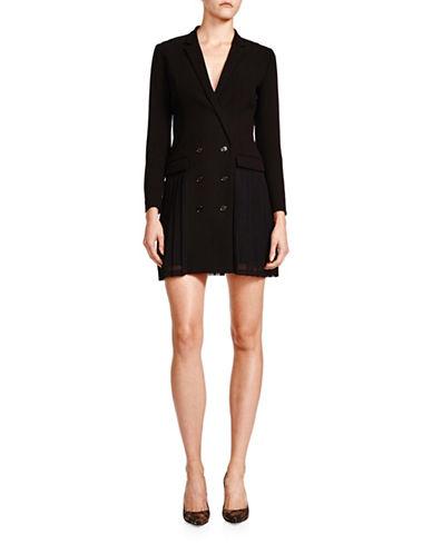 The Kooples Sanded Crepe Blazer Dress-BLACK-34