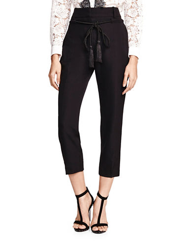 The Kooples Tassel Wool Pants-BLACK-Large