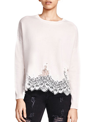 The Kooples Lace Pullover Top-BEIGE-1