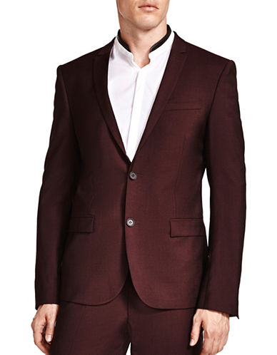 The Kooples Rain Relaxed Blazer-RED-46