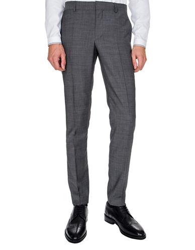 The Kooples Slim-Leg Wool Trousers-GREY-44
