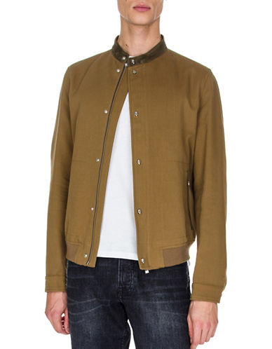 The Kooples Wool-Blend Bomber Jacket-BROWN-Large