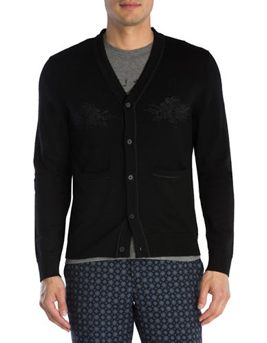 The Kooples Dragon-Embroidered Cardigan-BLACK-Large