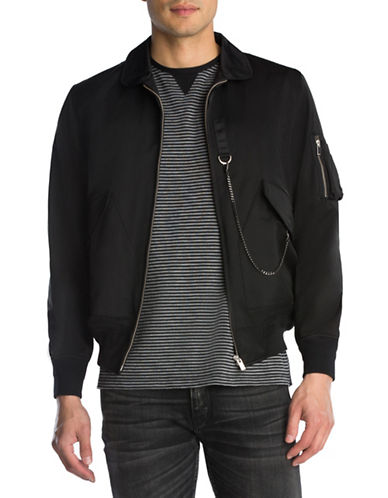 The Kooples Chain Bomber Jacket-BLACK-Medium