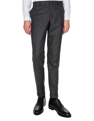 The Kooples Wool Tweed Suit Pants-BLACK-46