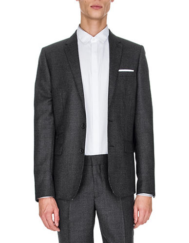 The Kooples Faded Wool Blazer-BLACK-50