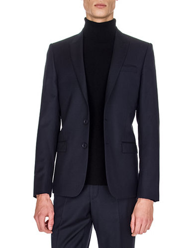 The Kooples Wool-Blend Suit Jacket-BLUE-46