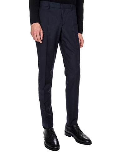 The Kooples Pique Wool Suit Pants-NAVY-46