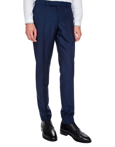The Kooples Classic Wool Suit Pants-BLUE-50