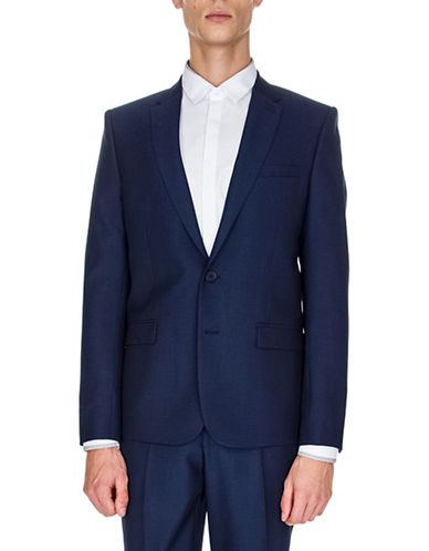 The Kooples Wool Suit Jacket-BLUE-48