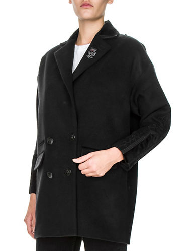 The Kooples Wool-Blend Double Breasted Coat-NAVY-34