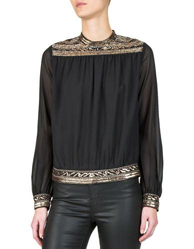 The Kooples Embellished Long-Sleeve Top 89805216