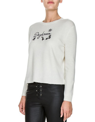 The Kooples Cashmere-Blend Daydream Pullover-BEIGE-Large