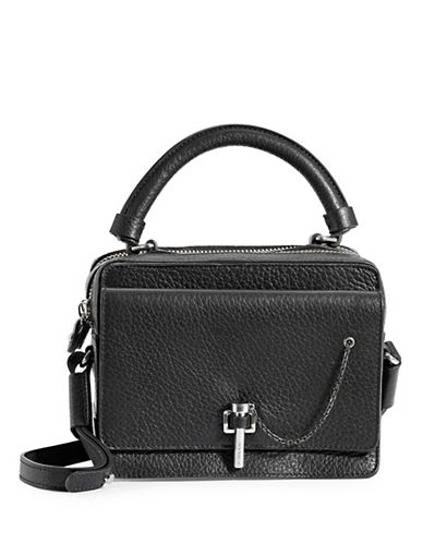 Carven Mini Satchel Crossbody Bag-BLACK-One Size