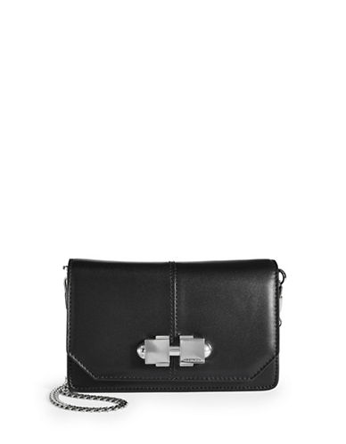 Carven Sac Bandoulliere Small Leather Crossbody-BLACK-One Size
