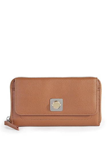 Carven Mercer Leather Clutch Wallet-OAT-One Size
