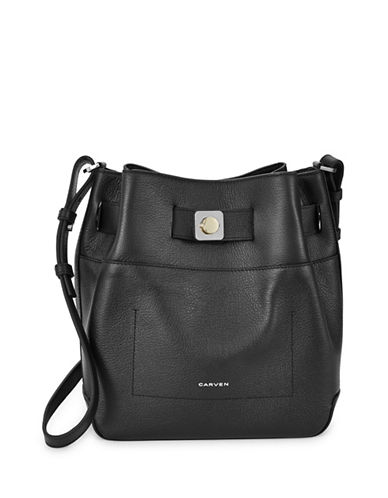 Carven Bandoulliere Bucket Bag-BLACK-One Size