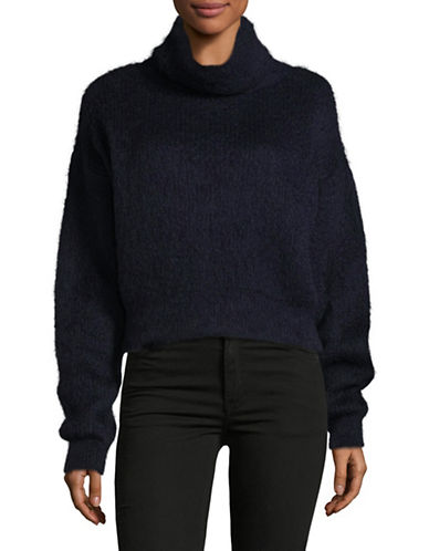 Carven Mohair Turtleneck Sweater-BLUE-X-Small